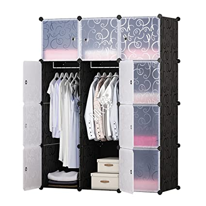 BRIAN U0026 DANY Portable Clothes Closet   Plastic Wardrobe   Closet Storage  Organizer With Doors U0026