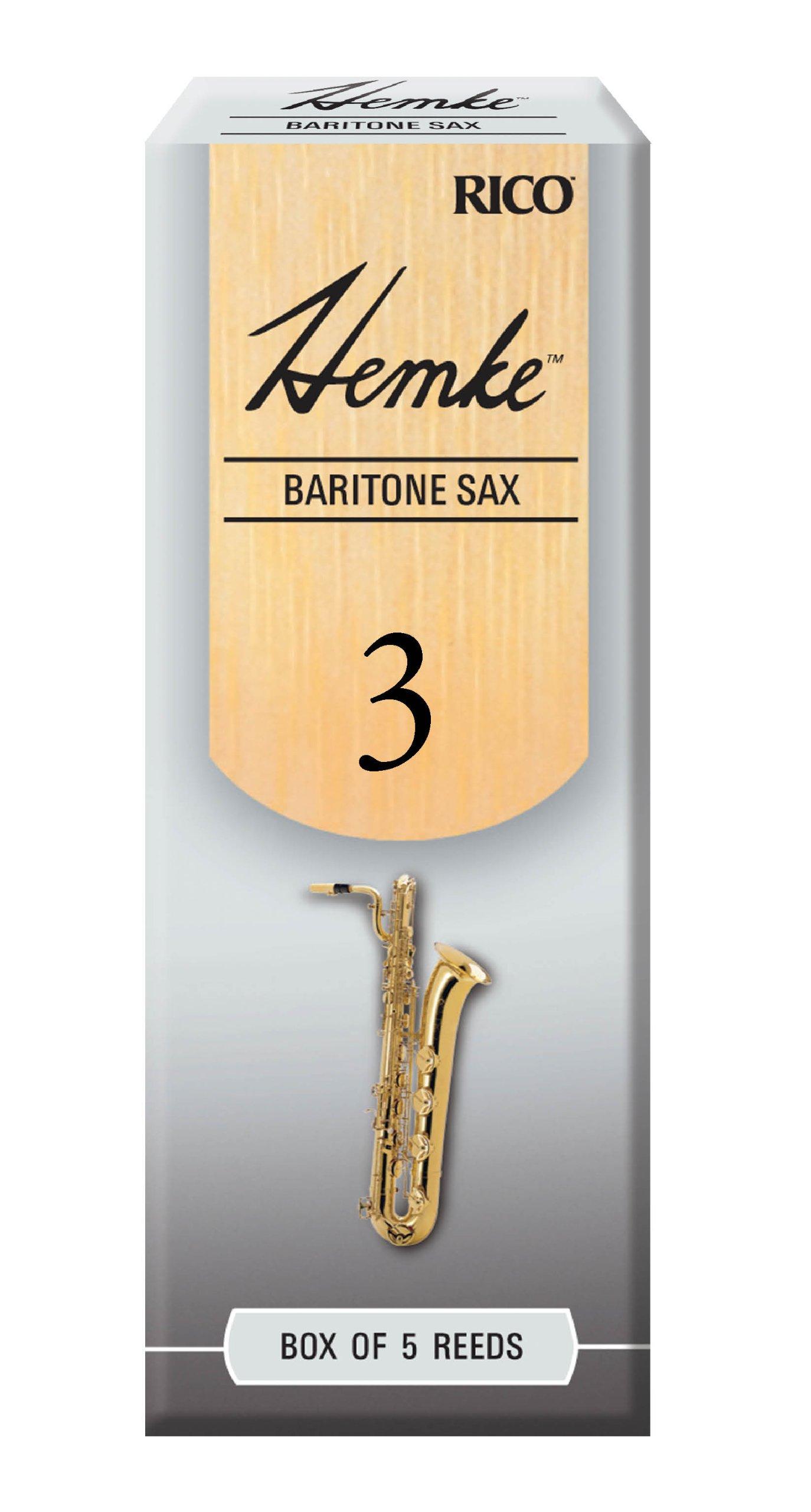 Hemke Baritone Sax Reeds, Strength 3.0, 5-pack