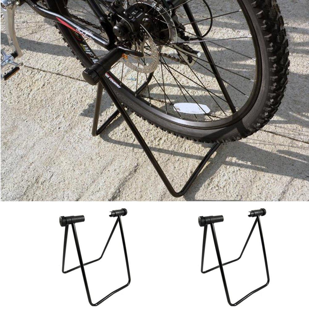 ljym88 Soporte Bicicleta Plegable en Forma U Bicicleta estacionamiento en la monta/ña Mantenimiento Bastidor Accesorios Soporte Coche Carretera