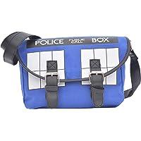 HAMIQI Doctor Who Cosplay Police Box Blue Shoulder Bag Clamshell Messenger Bag Student Cross Body Backpack Fashion Sling…