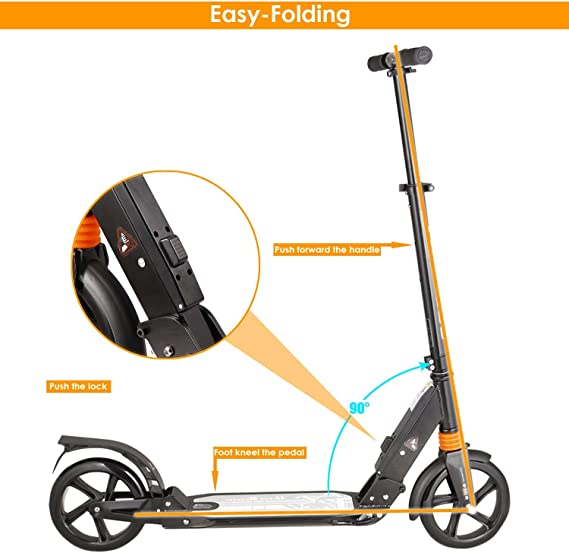 Amazon.com : kids/Adult Scooter with 3 Seconds Easy-Folding ...