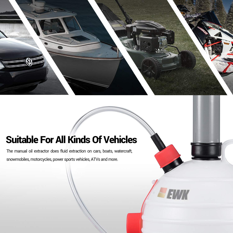 EWK 6L Manual Fluid Extractor Pump Vacuum Oil Changer Evacuator Kit by EWK (Image #2)