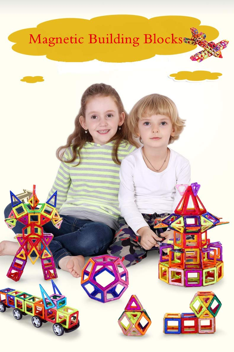 Irinika Magnetic Building Blocks 89pcs.,Preschool Educational Game with Numbers and Letters, Magnetic Constructor