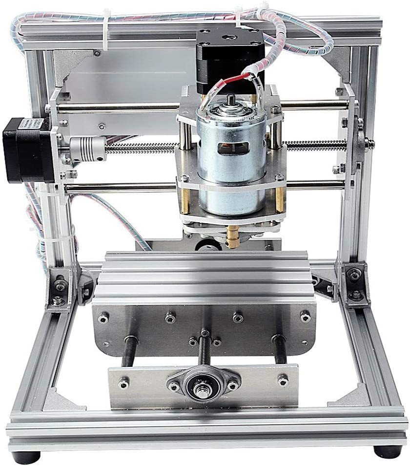 TopDirect CNC Fr/äsmaschine DIY CNC Router Maschine 3 Achsen Mini Holz PCB Acryl Fr/äsmaschine Metall Gravur Carving Maschine Arbeitsbereich: 130*100*40mm 3pcs Mill Gravur Bits 4pcs CNC Platten