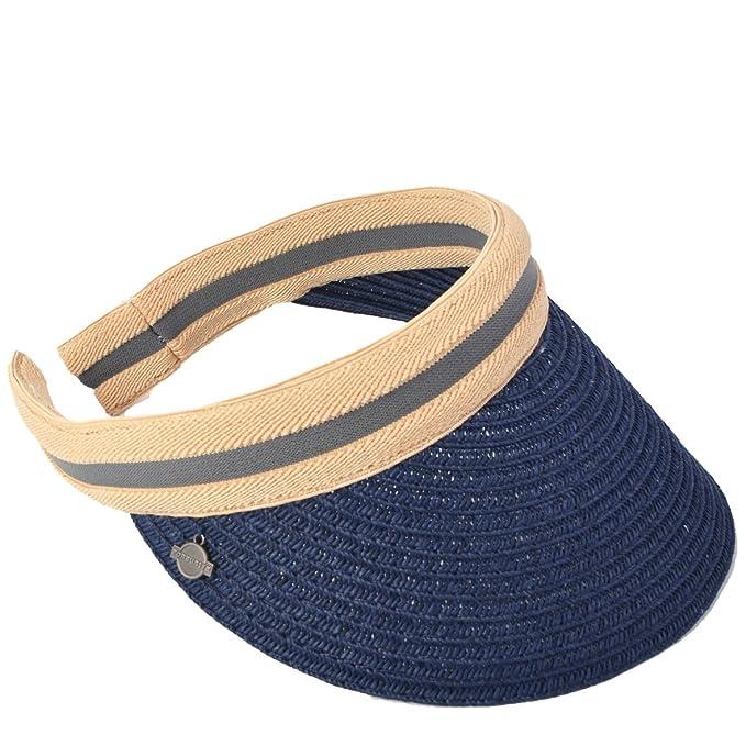 6bd2f02ca704e Mujeres Golf Deportes Viseras Sombreros Playa Paja Verano Visera Gorra  (Armada)