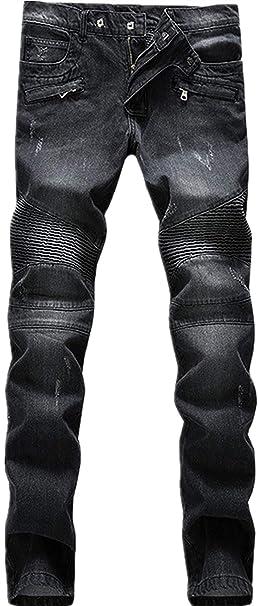 Pantalones Vaqueros Elásticos Negros Pantalones Elásticos ...