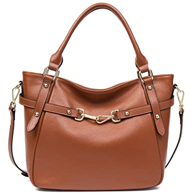 e6fa89bf2e ANA LUBLIN Women s Leather Handbag Ladies Tote Bag Top-Handle Purse  Shoulder Crossbody Bag