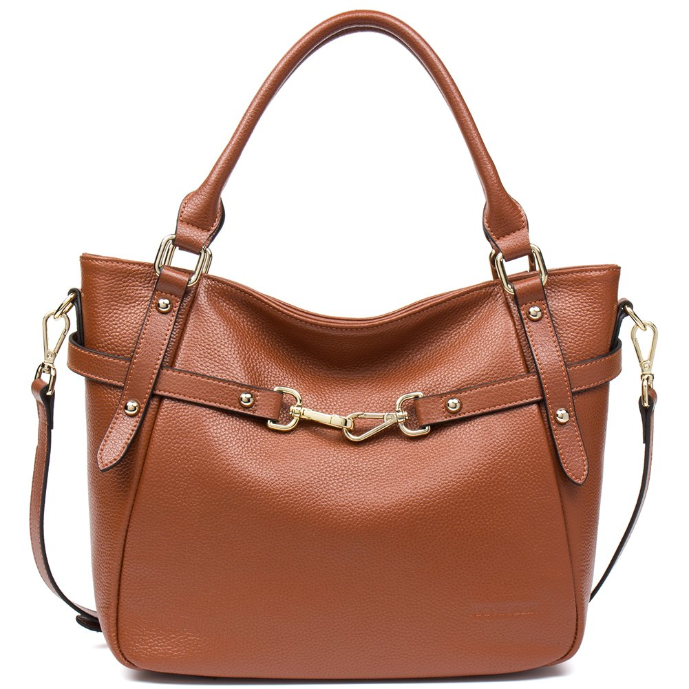 ANA LUBLIN Cowhide Handbags for Women on Sale Real Leather Purse Little Shiny Luxury Tote Bag by ANA LUBLIN (Image #1)