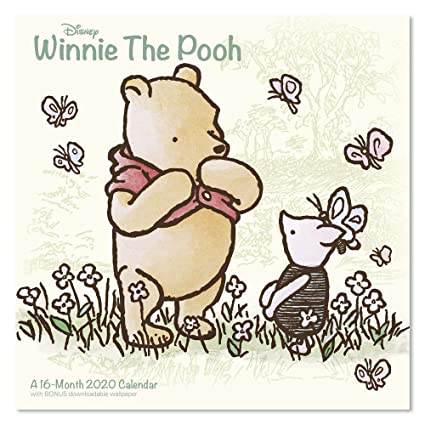 Official Slim Format Calendar Winnie The Pooh Sketch Slim 2020 Calendar