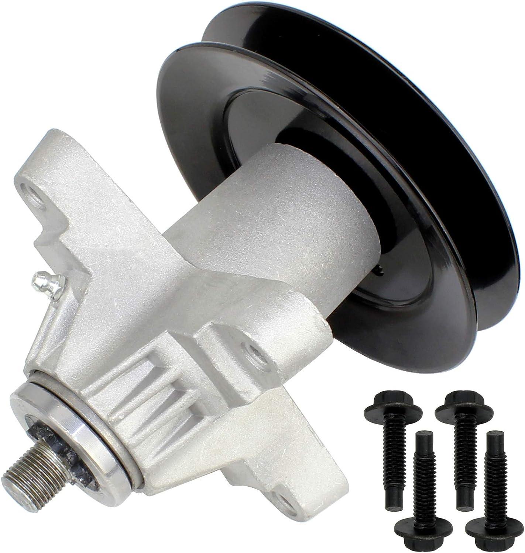 SPINDLE ASSEMBLY w//PULLEY FOR MTD CUB CADET LT1050 RZT22 RZT50VT SLT1550 SLT1554