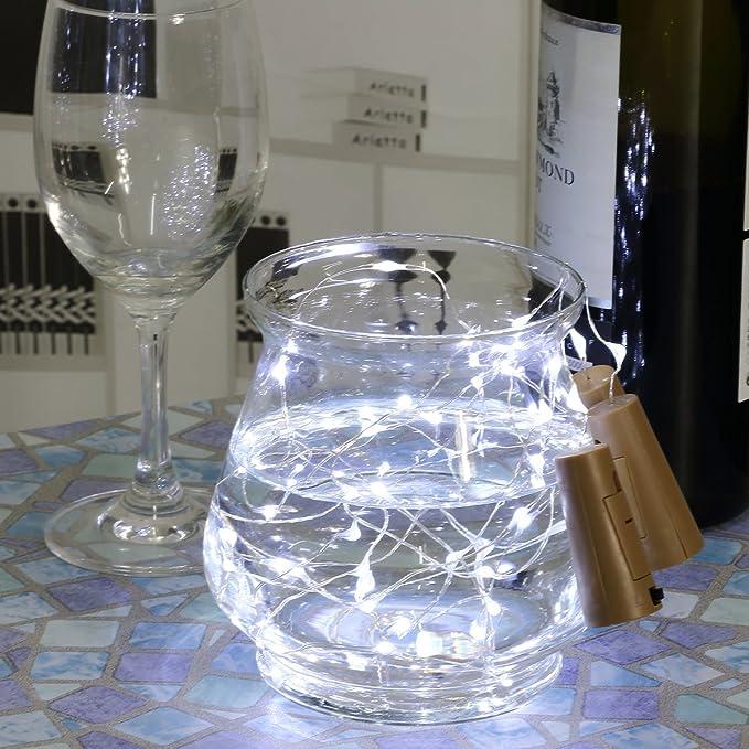 6pcs Botella Luces - 100cm botella de luz Con 20 bombillas LED, lampara botellas para la botella DIY, partido, decoración, la Navidad, Víspera de Todos los ...