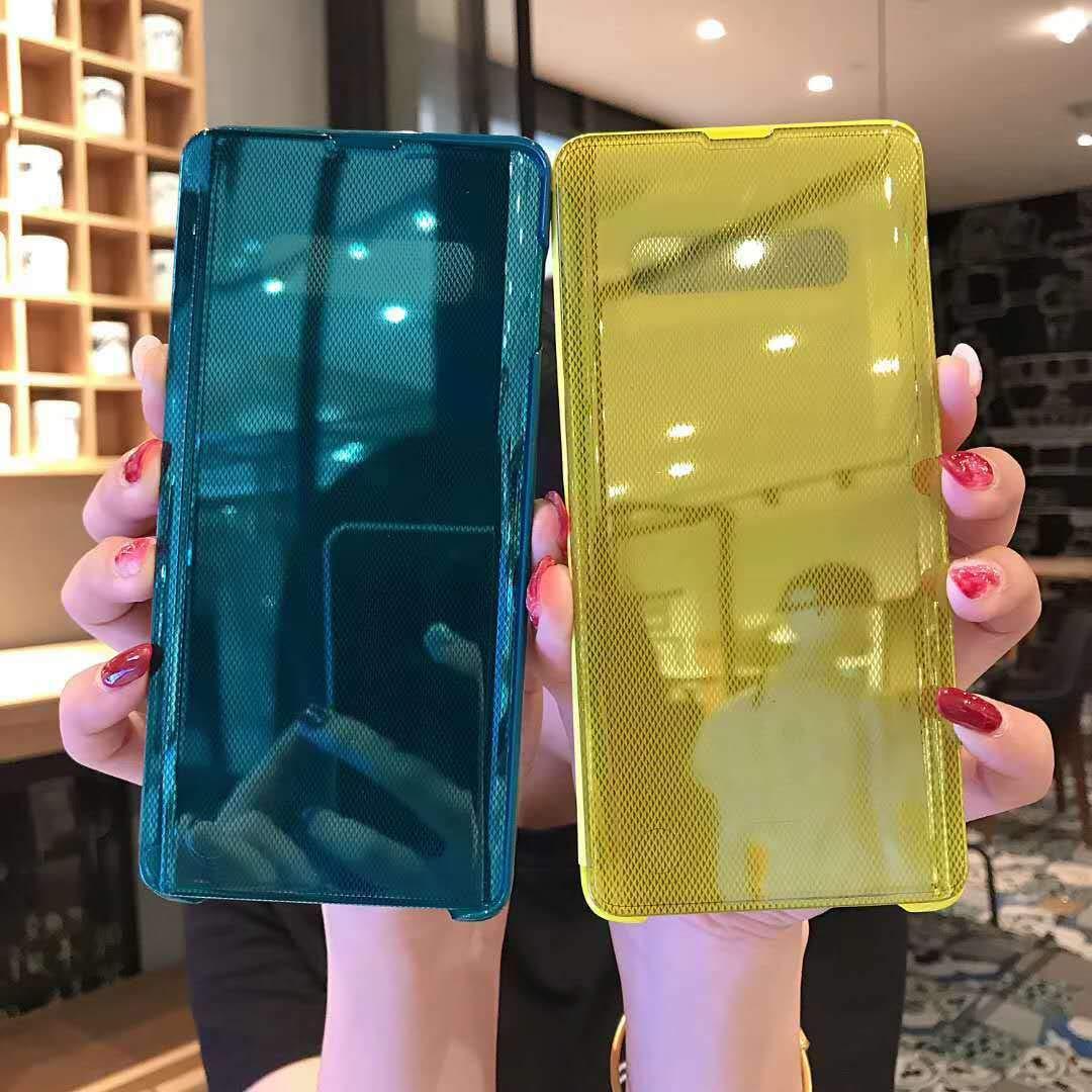 Funda Note 9 Flip Tapa Libro Carcasa Clear Espejo Brillante Caso Cierre Magn/ético Standing Cover Mirror Caja del Protecci/ón Tel/éfono m/óvil