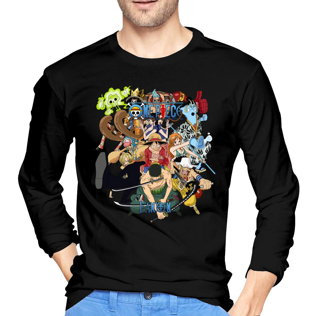 Vintage Anime One Piece T Shirt X Black