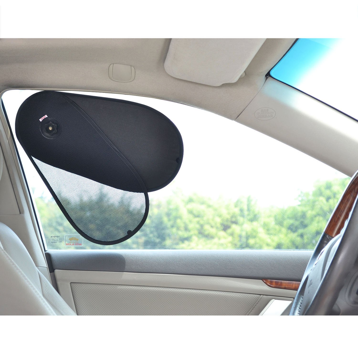TFY Car Window Sunshine Blocker Sun Shade Protector for Baby   Kids - Fit  Most of Vehicle 54bca334a1f