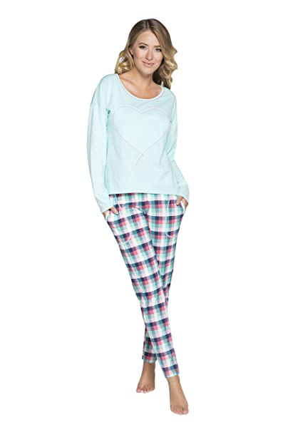 Italian Fashion IF Mujer Pijamas Manuela 0223 (Pistacho, S)