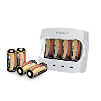 Tenergy 3.7V Arlo Battery Fast Charger w/8-Pack 650mAh Batteries