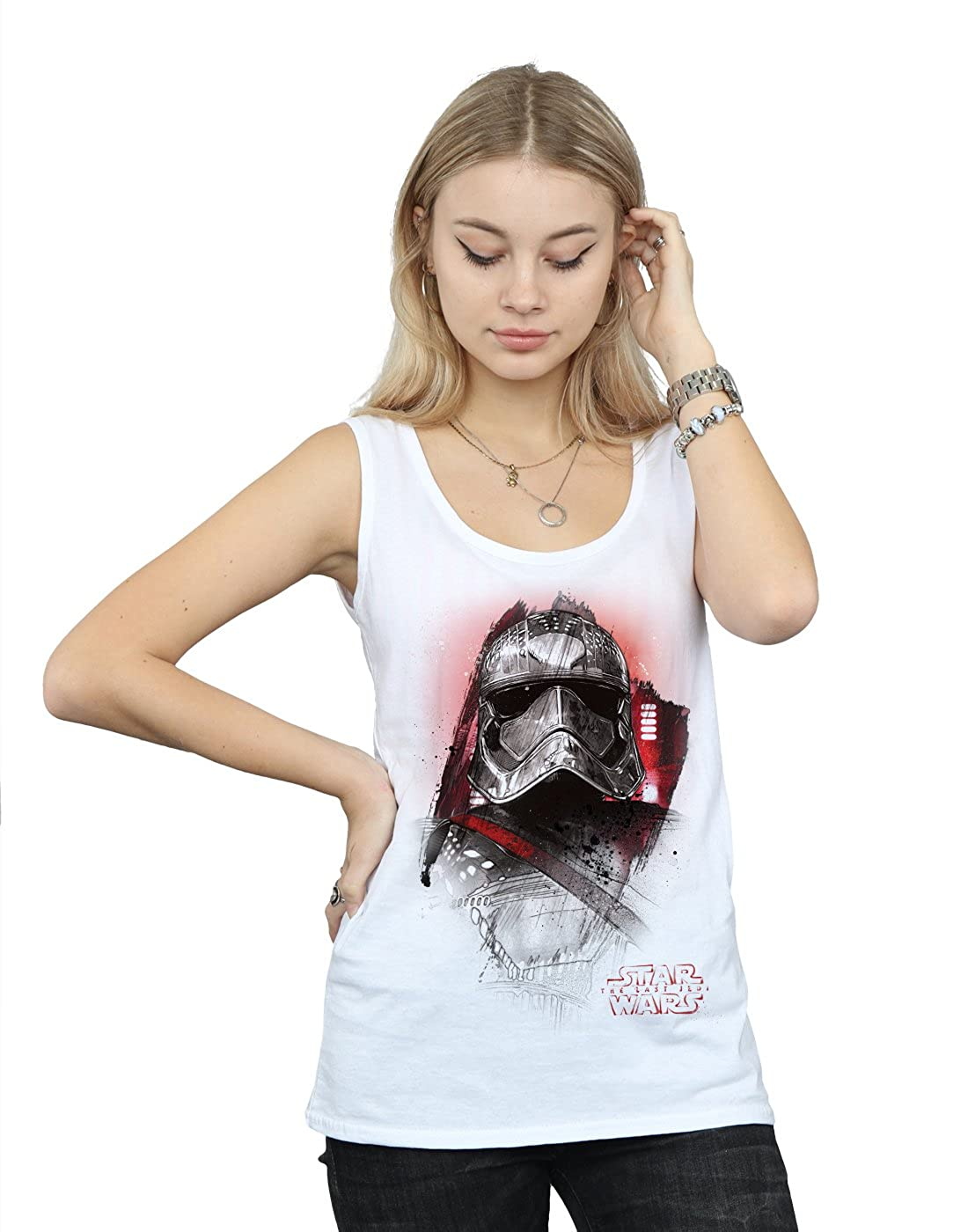 STAR WARS Hombre The Last Jedi Captain Phasma Brushed Tank Top