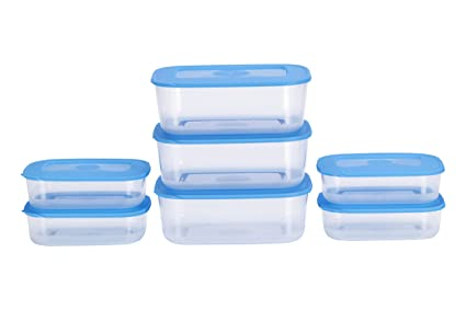 bef08971f Buy All Time Basic Plastic Container Set, 7-Pieces, Blue Online at ...