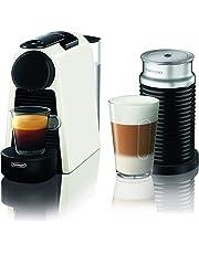 Delonghi Nespresso Essenza Mini, Capsule Coffee Machine with Frother, EN85WAE, White