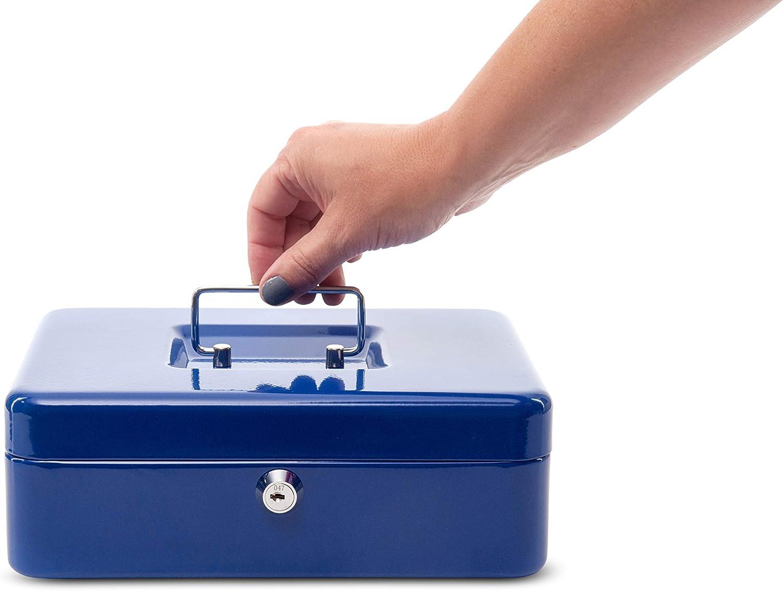 5611337 250 x 90 x 191 mm Maul Geldkassette 3 Herausnehmbarer Hartgeldeinsatz Blau 1 St/ück