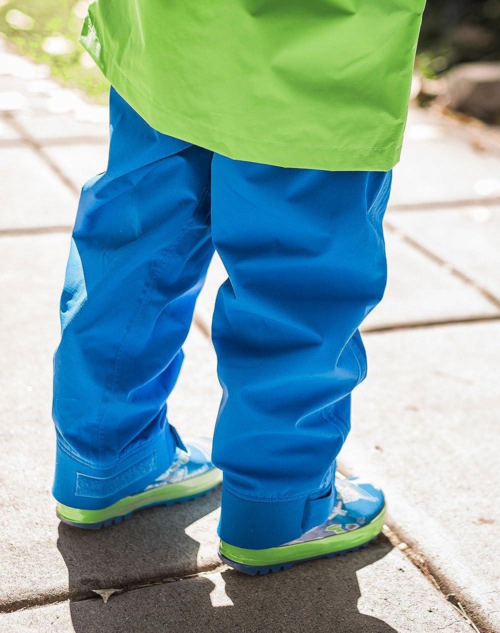Green Orange Purple Blue Navy Blue Oakiwear Kids Trail Rain Pants Hot Pink Yellow Black