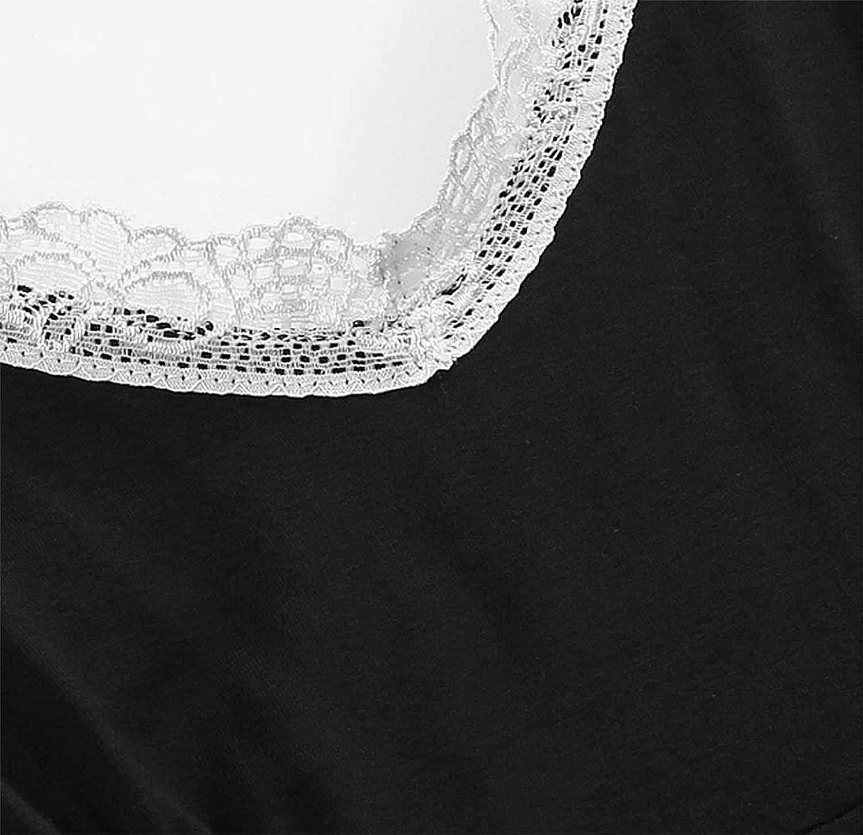 Amazon.com: SHAAPRO Spaghetti Strap Pajamas Sets Homewear Summer Women Lace-Trim Tops With Elastic Waist Shorts: Clothing
