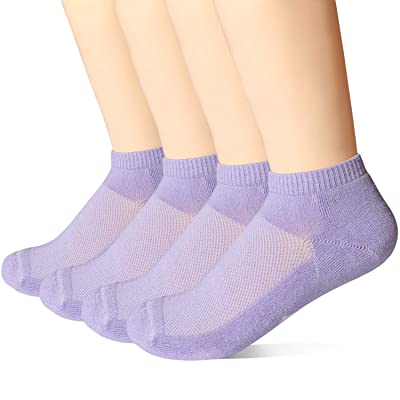 +MD 4 Pack Womens Bamboo Smell Control Low Cut Socks Soft Cushioned Athletic Socks at Women's Clothing store