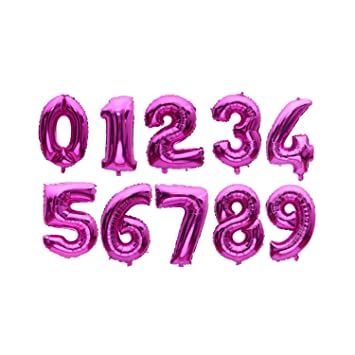 """32/"""" Kids Number Foil Balloons Set Helium Ballons Birthday Party Decor Large"""