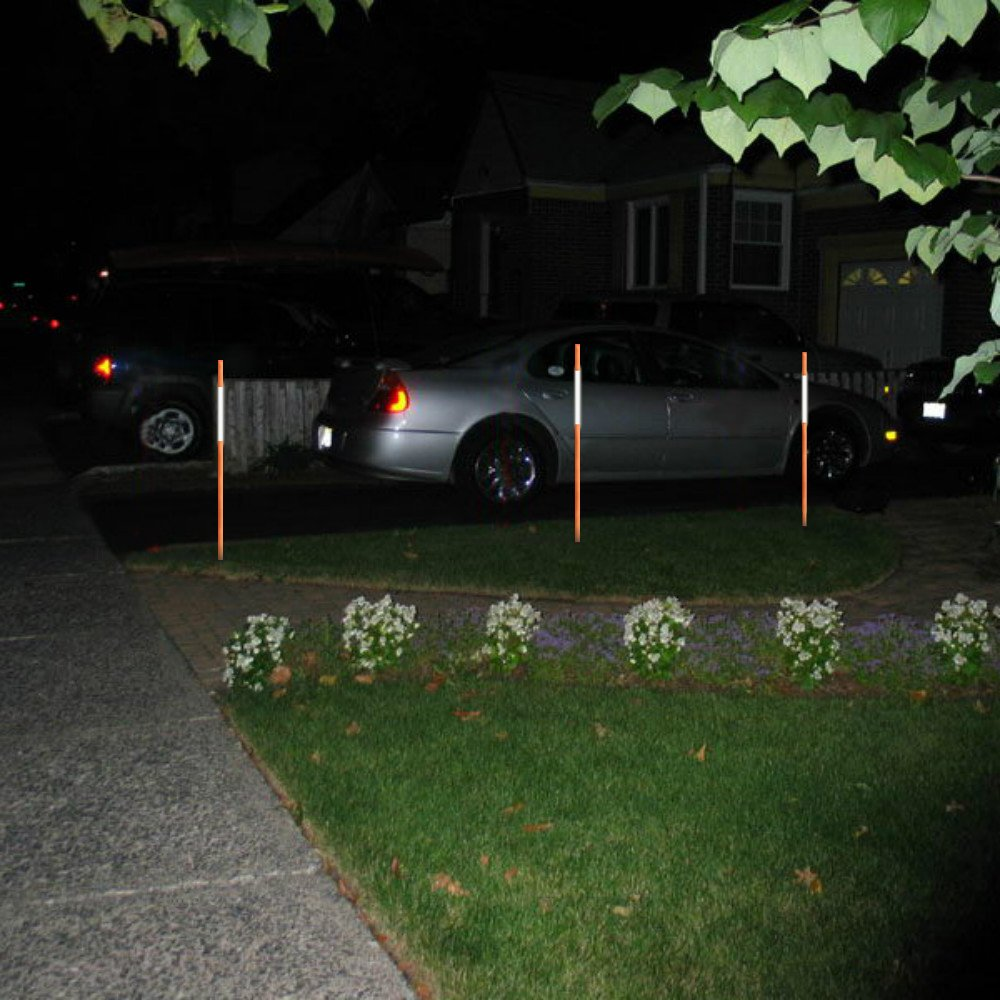 FiberMarker 60-Inch Reflective Driveway Markers Orange 20-Pack 5/16-Inch Dia Solid Driveway Poles for Easy Visibility at Night ... by FiberMarker (Image #4)