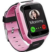 GPS LBS Tracker Smartwatch Niños - Reloj Inteligente Niña con SOS Cámara Juegos Despertador, Reloj Niña con Llamada, Reloj Inteligente Niños Compatible iOS Android, Smartwatch Niña Estudiante Escuela