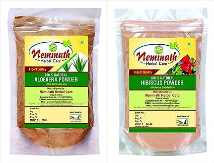 Neminath Herbal Care - Polvo de 200 gramos de aloe vera ...