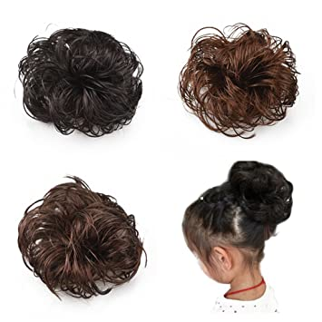 Amazon Com Synthetic Hair Bun Updo Extensions For Baby Girls Cute