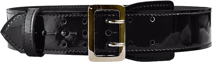 "Leather Sam Brown Police Security Uniform Basketweave Black 2-1//4/"" Duty Belt NEW"