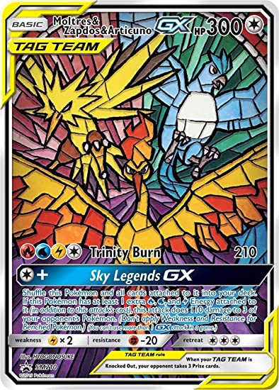 Pokemon Hidden Fates Moltres Zapdos and Articuno Gx Full Art 66//68
