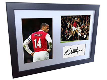 cc6404f86ff Image Unavailable. Image not available for. Color  Signed Black Soccer  Thierry Henry Arsenal ...