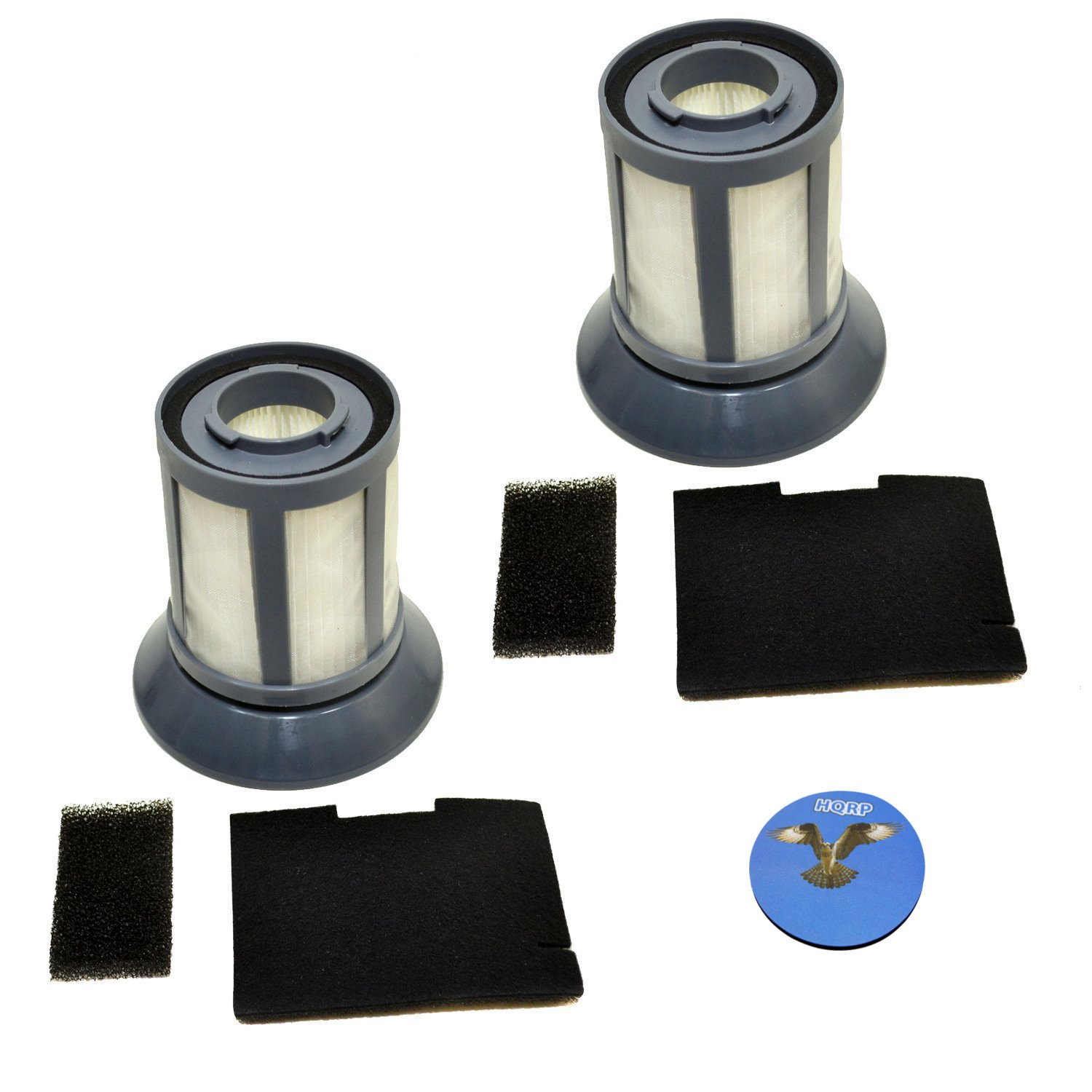 HQRP 2-pack Filter Set for Bissel 203-1532 Dirt Cup Filter, 203-1531 Filter Screen, 203-1533 Dirt Cup Filter Frame Base, 203-1534 / 203-1535 Pre & Post Motor Filters Replacement + HQRP Coaster