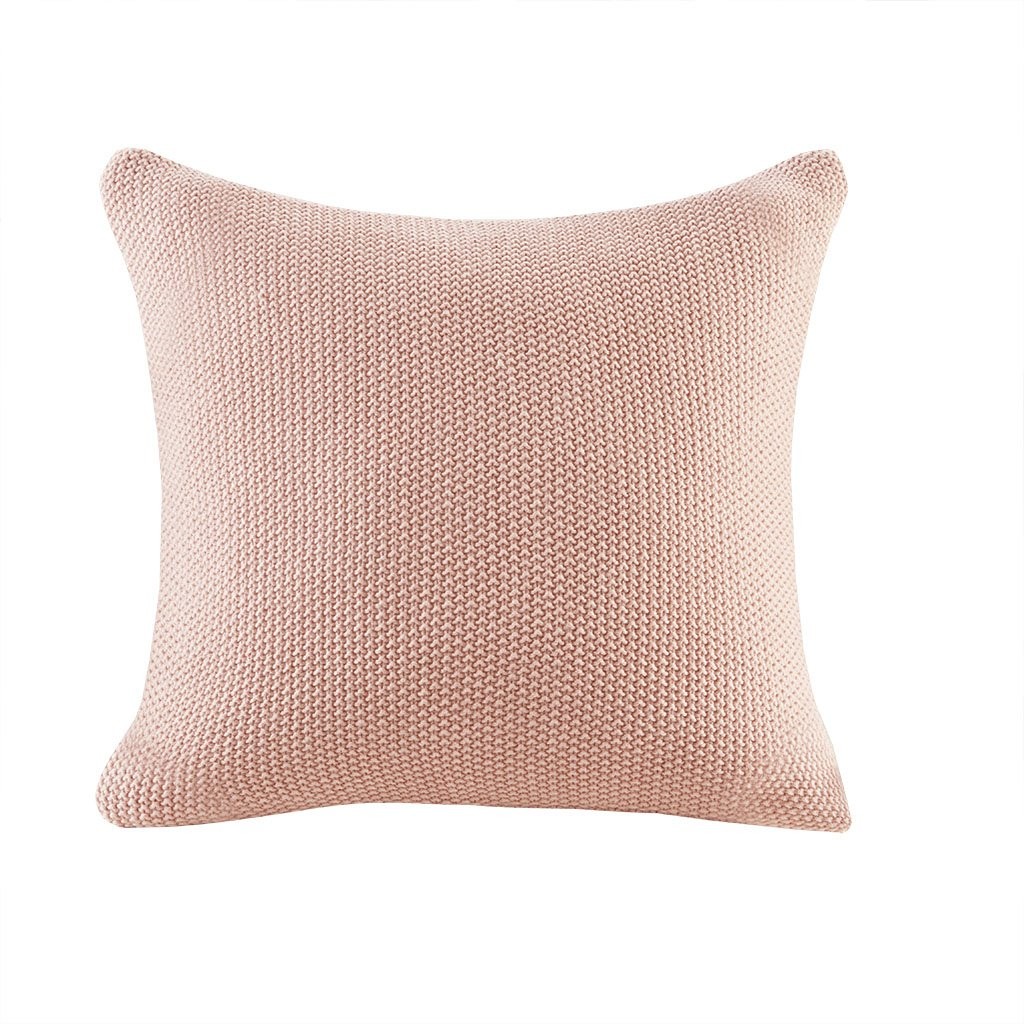 Ink Ivy Bree Knit Square Pillow Cover, Coral