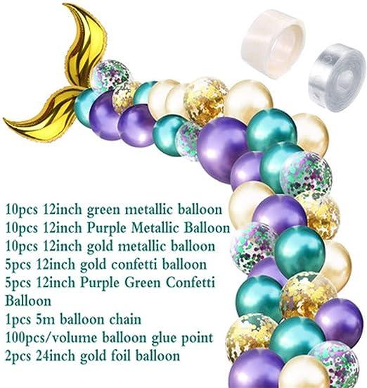 DIY Mermaid Tail Balloon Garland Set Latex Balloons Arch for Wedding BirthdayX!X