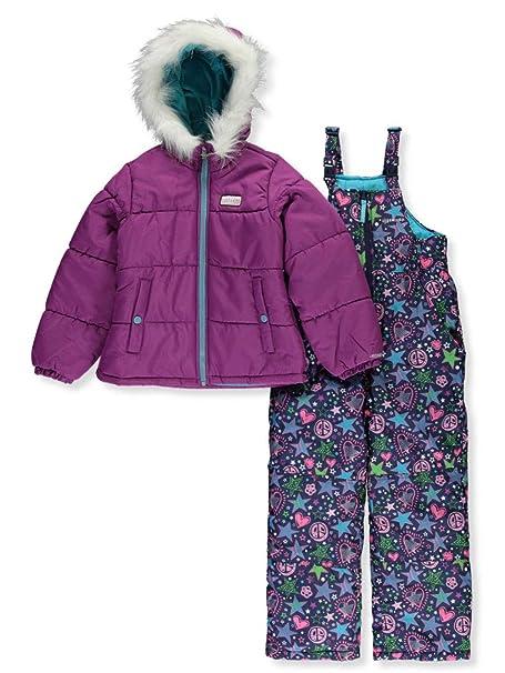 Amazon.com: Skechers - Traje de nieve para niña (2 piezas ...