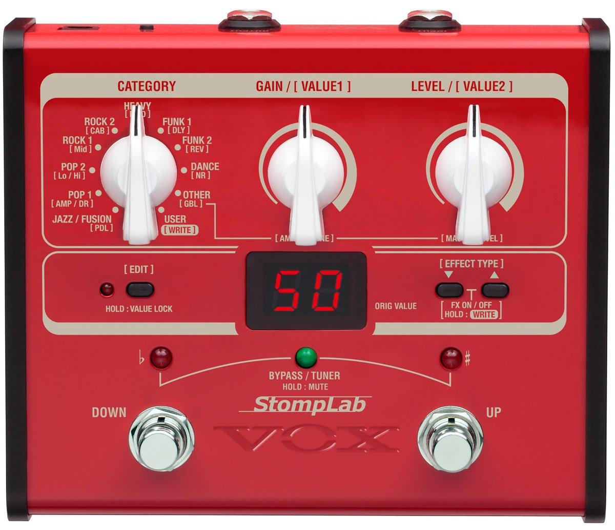 VOX StompLab I, Multieffekt für Bass, Amp- und FX Modeling Multieffekt für Bass SL1B