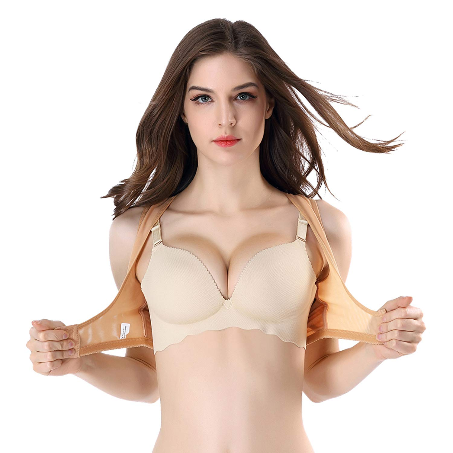 631d13c08632b Queenral Women s Chest Push-Up Magic Bra Shaper Chest Orthosis Gather  Shapewear Vest  Amazon.ca  Clothing   Accessories