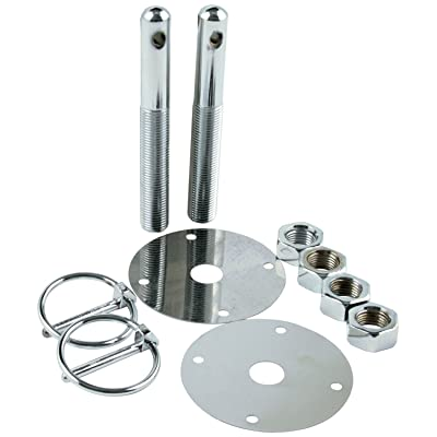 "Allstar Performance ALL18512 Steel Hood Pin Kit with 3/16"" Flip-Over Clip: Automotive"
