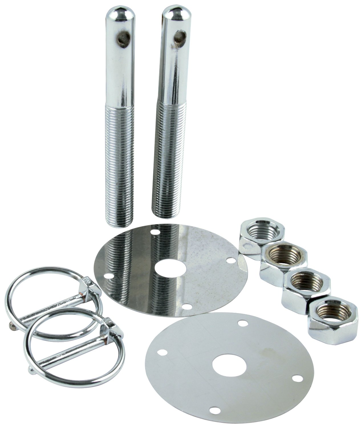 Allstar Performance ALL18512 Steel Hood Pin Kit with 3//16 Flip-Over Clip
