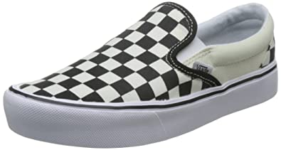 6cd3f9a907 Vans Slip On Lite Checkerboard Black Classic White Men s Skate Shoes Size  8.5