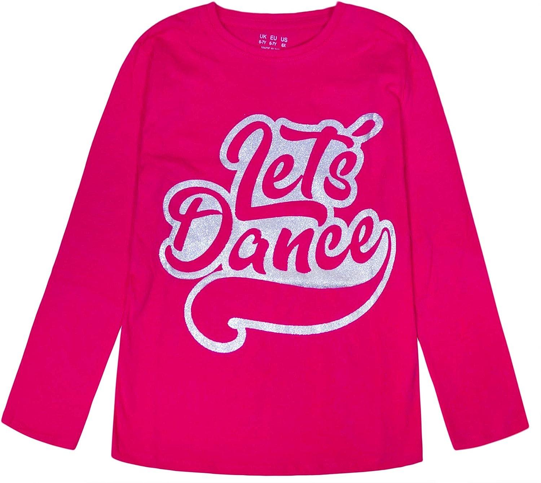 JollyRascals Girls Unicorn T Shirt Kids New Glitter Print Cotton Top Party Dance Summer Tee Blue Mint White Flamingo Roller Girl F/&F Top Ex Tesco Age 6 7 8 9 10 11 12 13 14 15 Years