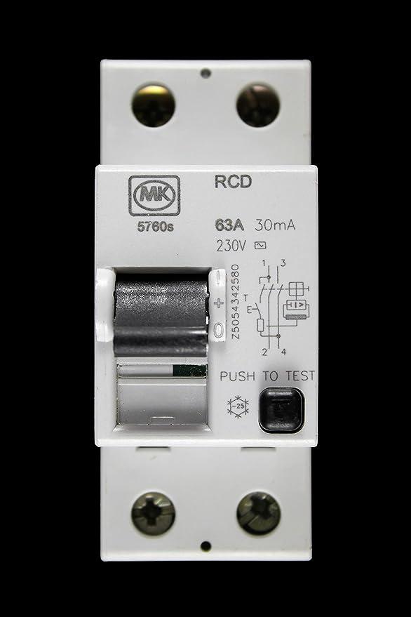 Black Button version MK LN 5760s RCD 63A 30mA 2P 240V LN5760s