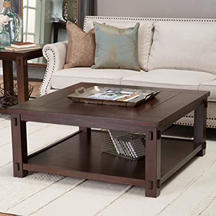 Amazon Com Belham Living Bartlett Square Coffee Table Kitchen