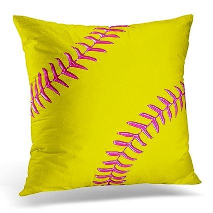 Round Yellow Decorative Pillow