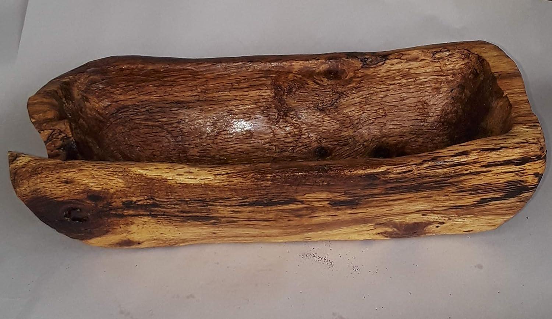 Rustic Spalted Oak Large Fruit Bread Bowl