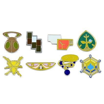 amazon com pokemon gym badges gen 6 kalos league clear coating